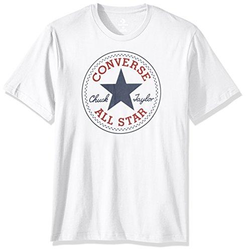 Converse Chuck Patch Camiseta de manga corta para hombre - Blanco - Small