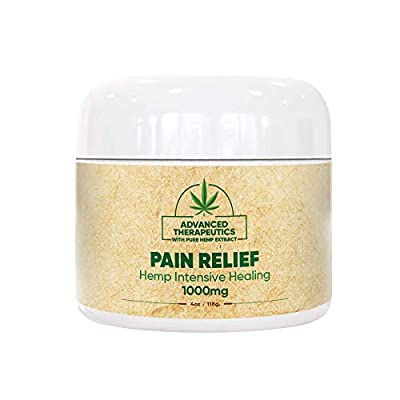 1000 mg 4 Ounce Hemp Cream for Fast Pain Relief Double The Size and Power of All Other Arnica Cream Infused with 1000mg of Hemp Oil for Pain Relief of Knee Pain,Back Pain, Neck Pain Relief by Advanced Therapetucis Inc