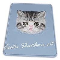 マウスパッド エキゾチックショートヘア 猫 ゲーミングマウスパット デスクマット 最適 高級感 おしゃれ 滑り止めゴム底 防水設計 複数サイズ