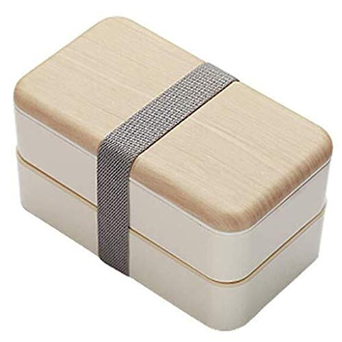 Lunch Box met bestek Meal Prep Plastic Voedsel Container van de Opslag Luchtdicht for keuken Lunch Box Magnetron Safe (Color : Beige)
