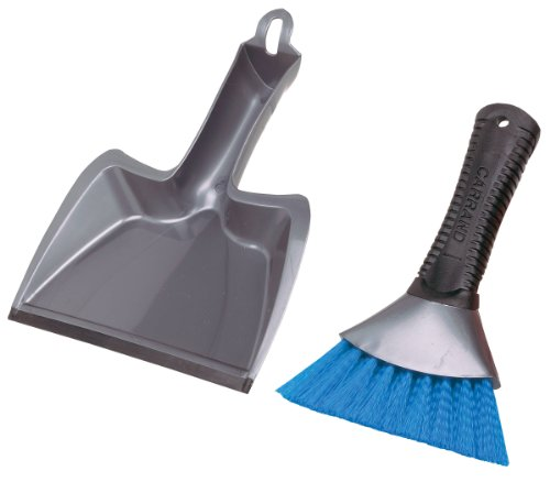 AutoSpa 92034 Grip Tech Deluxe Dust Pan with Heavy Duty Brush
