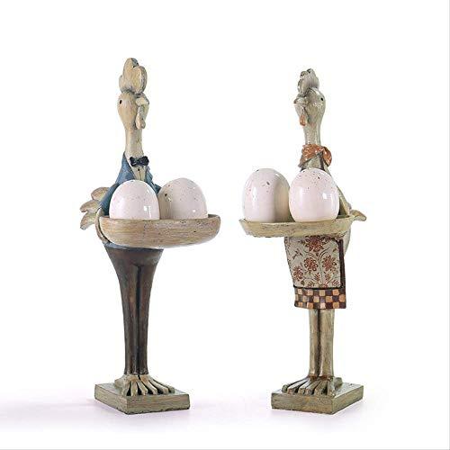 MJDLDV Decoratie, Pastorale Wind Hars Dierlijke Slee Stuk Kip Paar Peper Zout Kan Restaurant Boerderij Wijnkast Decoratie Ornamenten