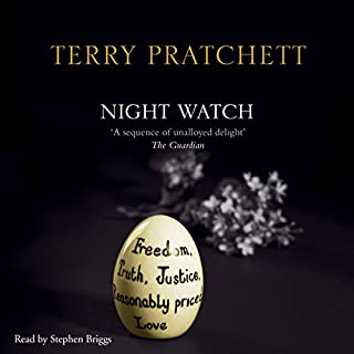 Night Watch                   By:                                                                                                                                 Terry Pratchett                               Narrated by:                                                                                                                                 Stephen Briggs                      Length: 10 hrs and 40 mins     2,434 ratings     Overall 4.9