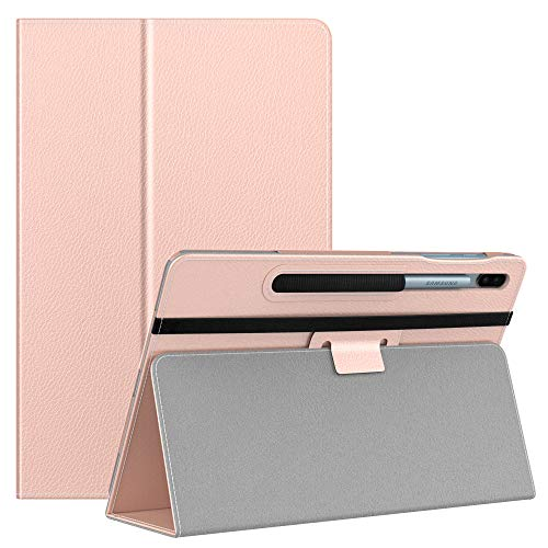 MoKo Case Fit Samsung Galaxy Tab S6 10.5 2019, Ultra Compact Protection Premium Folding Stand Slim Smart Cover Case with Auto Wake & Sleep for Galaxy Tab S6 10.5 inch SM-T860/T865 2019 - Rose Gold
