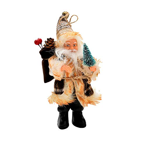 AMUSTER Weihnachtsmann Weihnachtsdeko Weihnachtsfigur Weihnachtsbaum Dekor Weihnachtsmann Ornamente Xmas Decor Party Decor 16/22cm