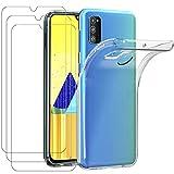 iVoler Custodia Cover per Samsung Galaxy M30s / M21 + 3 Pezzi Pellicola Vetro Temperato, Ultra...