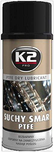 K2 Teflon (PTFE) droogsmeermiddel spray, droogsmeerspray, teflon spray, kettingvet, siliconenvrij 400 ml