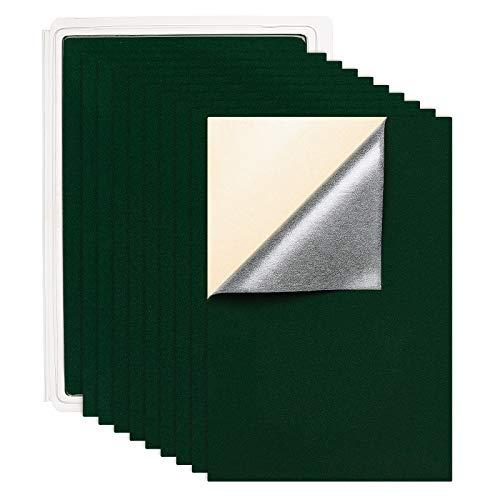 BENECREAT 20PCS Velvet (Dunkelgrün) Stoff Klebrige Rückseite Klebefilz A4-Blatt (21 x 30 cm), selbstklebend, langlebig und wasserfest, vielseitig verwendbar, ideal für Kunst und Handwerk
