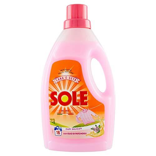 Sole - Lana e Delicati, Detersivo per Bucato con Balsamo Ammorbidente - 4 flaconi da 1000 ml [4 l, 64 lavaggi]