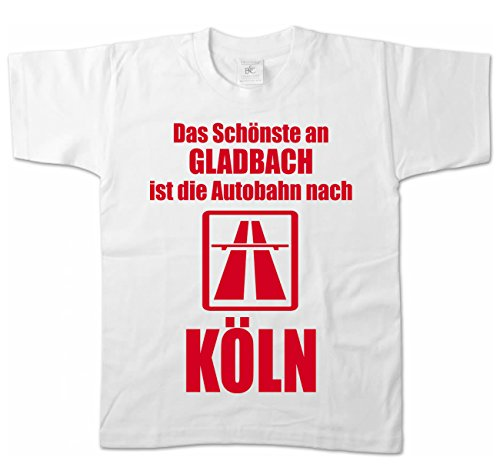 Artdiktat Kinder T-Shirt - Anti Gladbach 152/164, Weiß