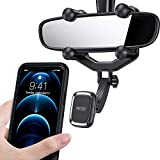 TORRAS Phone Holder for Car Rear View Mirror Phone Mount, [Big Phones & Vehicles Friendly] Magnetic Phone Car Mount, Universal Car Phone Holder Mount Cell Phone Automobile Cradle Fits All Cell Phones