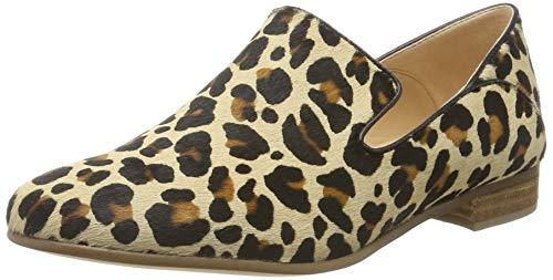 Clarks Damen Mokassin, Mehrfarbig (Leopard Print), 41 EU