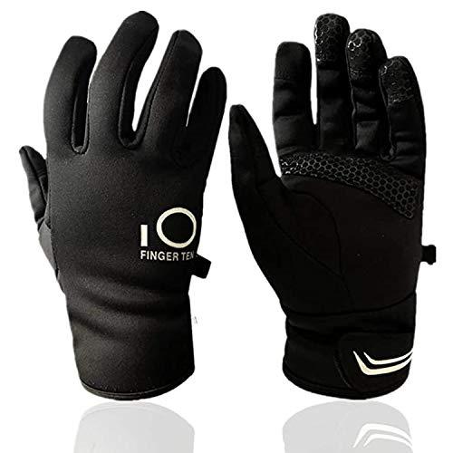 Winter Gloves Men Women Touch Screen Waterproof, Fleece Warm Thinsulate Cold Weather Grip Outdoor Workout Work (Medium)