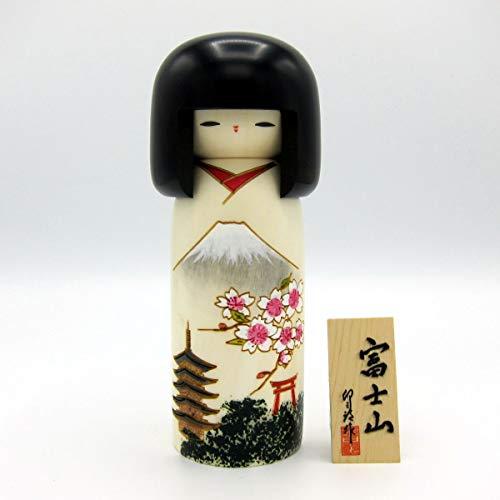 Usaburo Sosaku Kokeshi Muñeca Fujiyama Hecho en Japón