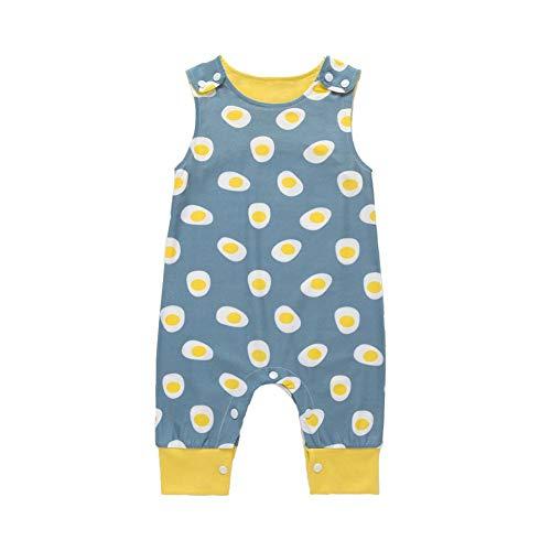 Demiawaking Bébé Garçon Filles Pyjamas Combinaison Grenouillère La Cabina Barboteuse Ramper Combinaison sans Manches Mignonne drôle de Barboteuse à col Rond pour Enfants