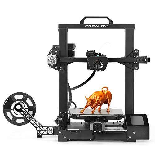 Creality CR-6 SE Leveling-Free Starter FDM 3D Printer, Auto Bed Leveling, Five-Minute Assembly, TMC2209 Drivers, Enhanced Heatsink and Extruder, 4.3 Inch Touchscreen, Build Volume 235 x 235 x 250mm