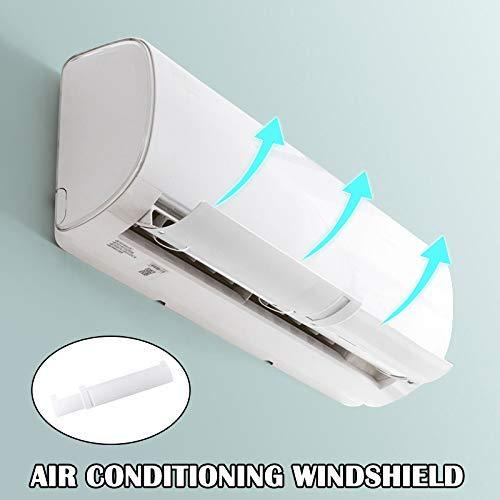 Monlook Aire Acondicionado Cortavientos Frío Deflector Viento Retráctil Bafle para Hogar Oficina Hotel