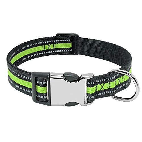 SFBBBO Collar Perro Collar para Perros de Nailon Personalizado para Mascotas Perros pequeños medianos Grandes S 014-Verde