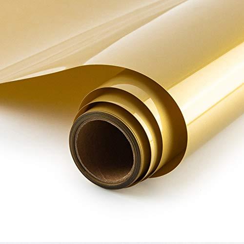 Shoyisi HTV Vinyl-Rolle, 30,5 x 4,5 m, zum Aufbügeln auf T-Shirts, Kleidungsstücke, Taschen & andere Stoffe (Gold)