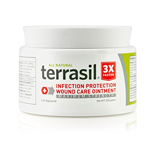 Terrasil Wound Care - 3X Faster Healing, Dr. Recommended, Infection Protection Ointment for Bed sores,...