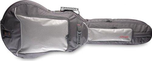 Stagg STB-GEN 20 SA Standard Gigbag für semi-akustische Gitarre, mit 20 mm Schaumstoffpolsterung, Schwarz