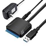 Uuger sata usb 変換ケーブル 3.5/2.5インチSSD HDD SATA USB変換アダプター SATA3 USB3.0 変換ケーブル PS4 TV Windows/Mac OS 高速伝送 最大6TB UASP対応