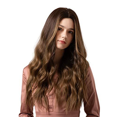 DYNWAVE Kinky Curly Curly Wig Penteado Sintético para Mulheres Full
