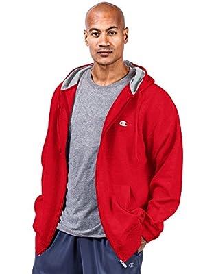 Champion Fleece Full Zip Hoodie, Crimson, 4XLT by Champion