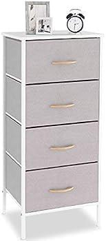 Bizroma 4 Drawer Tall Fabric Dresser