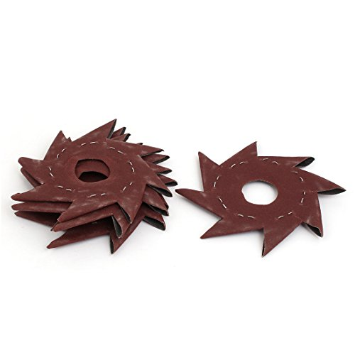 For Sale! Aexit 240 Grit Abrasives 5 Pinwheel Shaped Octagonal Abrasive Sandpaper Sanding Buffing T...