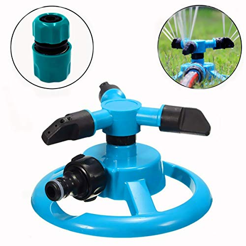 CHHUI Garden Lawn Sprinkler for Kids Play Fun, Yard Water Hose Spray System Plant Irrigation 33 ft Coverage Adjustable Nozzle 360 Degree Automatic Rotating