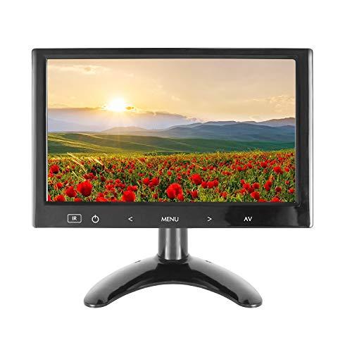 9 Pulgadas CCTV Monitor, HDMI Pantalla Ultra Fina Portable Monitor 16:9 TFT HD 1024 * 600 Entrada AV/VGA/HDMI, con Botón táctil, Altavoz Integrado, Compatible con la cámara de Seguridad, by WHOLEV