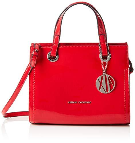 ARMANI EXCHANGE Small Shopping Bag - Borse Tote Donna, Rosso (Red), 21x13.5x27 cm (B x H T)