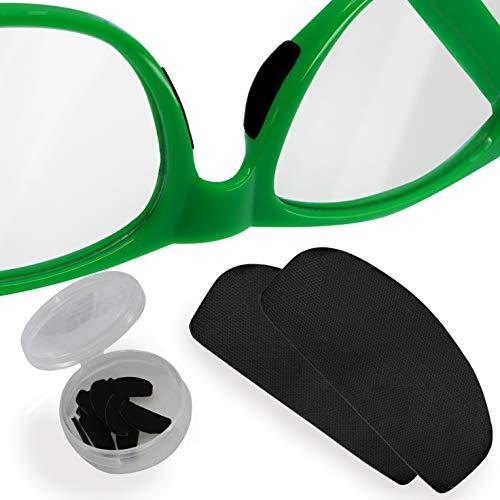 Setex Gecko Grip Ultradünne 0,6mm Anti-Rutsch-Nasenpads für Brillen, in den USA hergestellt, mikrostrukturierte Fasern, 0,6mm x 7mm x 16mm (5 Paar schwarze Nasenpads)