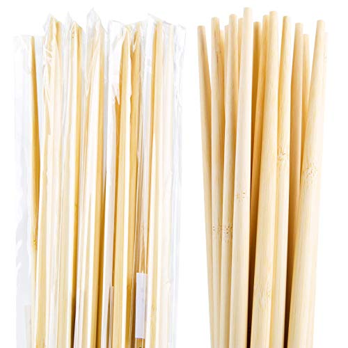 Individually wrapped 10 Pairs 15 Inches Bamboo Chopsticks for Cooking and Hot pot