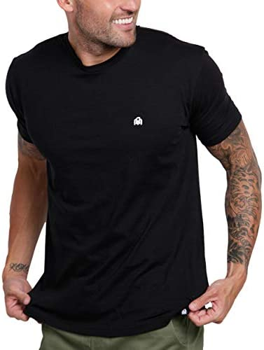 INTO THE AM Men s Fitted Crew Neck Basic Tees Premium Modern Fit Short Sleeve Plain Logo T Shirts product image