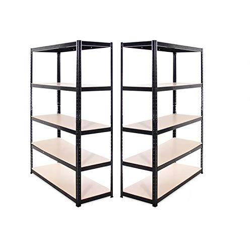 Adjustable Shelf Metal Storage Racks Shelves 1.8M Heavy Duty Display Stand for Books, Workshop Shed Office,Kitchenware, Tools Bolt-Free UK