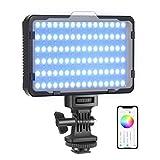 Neewer Luce 176 LED RGB con Controllo via APP, 360° Colore Pieno CRI95+ Dimmerabile 3200-5600K 9...