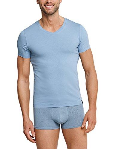 Schiesser Herren Long Life Cotton Hip-Shorts Boxershorts, Blau (Hellblau 805), XX-Large (Herstellergröße: 008)