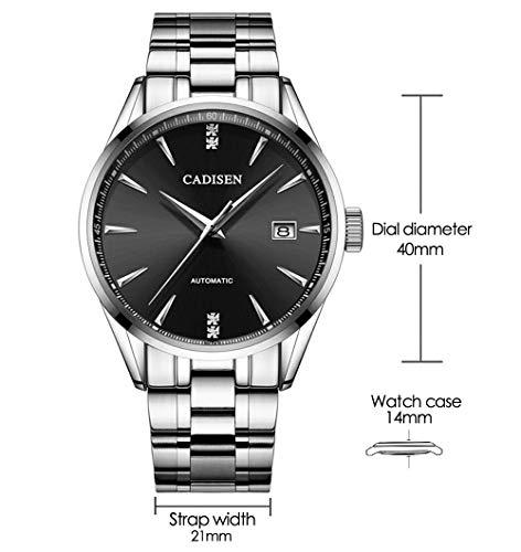 Reloj mecánico de Acero Inoxidable para Hombre, Resistente al Agua, con Calendario, para...