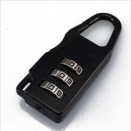 Combinación Candados Alta Calidad Negro Viaje Maleta Combinación Candado Caso Bolsa de Contraseña Digit Code Bolsas Cerraduras