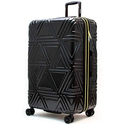 Badgley Mischka Contour Hard Expandable Spinner Suitcase (Black, 29')
