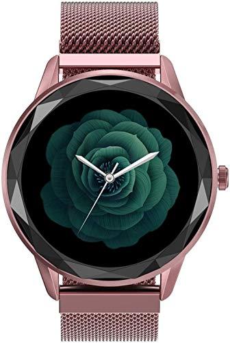 DHTOMC Reloj inteligente para mujer con función de recordatorio de control de música y varios modos de deporte, color rosa