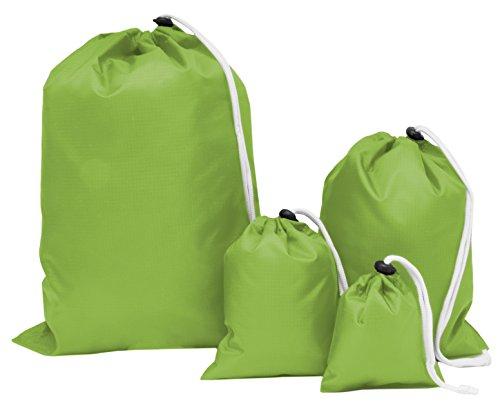 ZOLLNER 4er Set Packbeutel für Koffer, Rucksäcke, Reisetaschen UVM, Grün