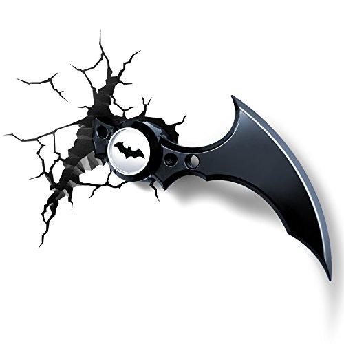 3DLIGHTFX - Lámpara 3D Batman Bati-Boomerang, Multicolor