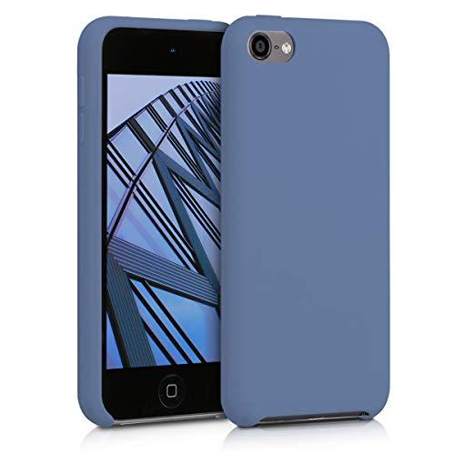 kwmobile Étui Compatible avec Apple iPod Touch 6G / 7G (6ème et 7ème génération) - Étui Coque Protection en Silicone pour Lecteur MP3 Gris Lavande