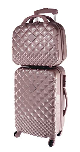 30lt suitcase set + vanity case 12lt rosegold shine