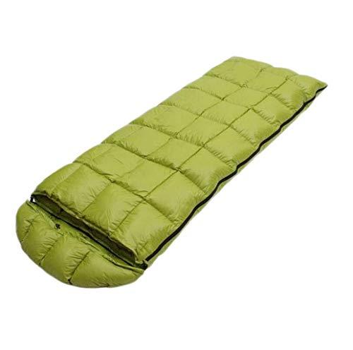 sleeping bag Portable Spliced double outdoor camping portable compact (capacity: 1.0 kg, color: green), name size: 1.0 kg, color name: GREEN