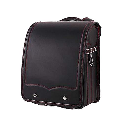 Fantastic Deal! MUZIWENJU Semi-Automatic School Bag for Boys and Girls,Senior PU Leather, Large ...