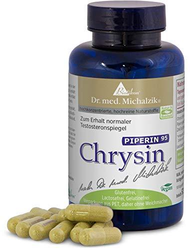 Chrysin Piperin - aus natürlichem Schwarzpfeffer-Extrakt mit 95% Piperin Anteil - 90 Kapseln hochdosiert - 98% Chrysin 500mg je Kapsel - nach Dr. med. Michalzik - ohne Zusatzstoffe - von BIOTIKON®